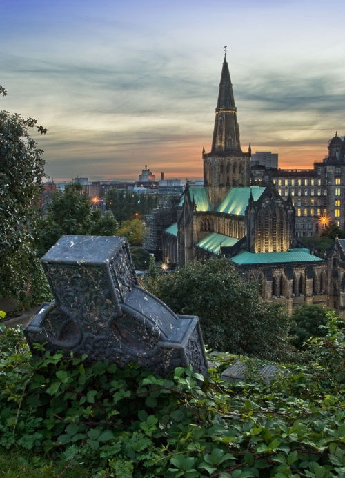 'Glasgow Cathedral.' I am lucky enough to have seen this view from the Necropolis. DBA.