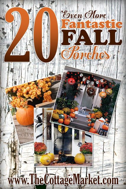 20 Fantastic Fall Porches - The Cottage Market #FallPorches, #FallPorchDecorations, #FallPorchInspirations