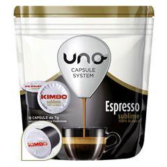 16 CAFFÈ UNO CAPSULE SYSTEM KIMBO ESPRESSO SUBLIME