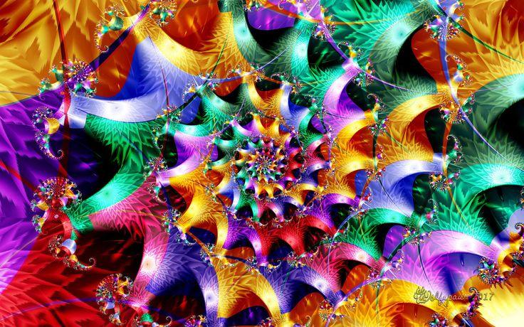 Rainbow Spiral by wolfepaw.deviantart.com on @DeviantArt
