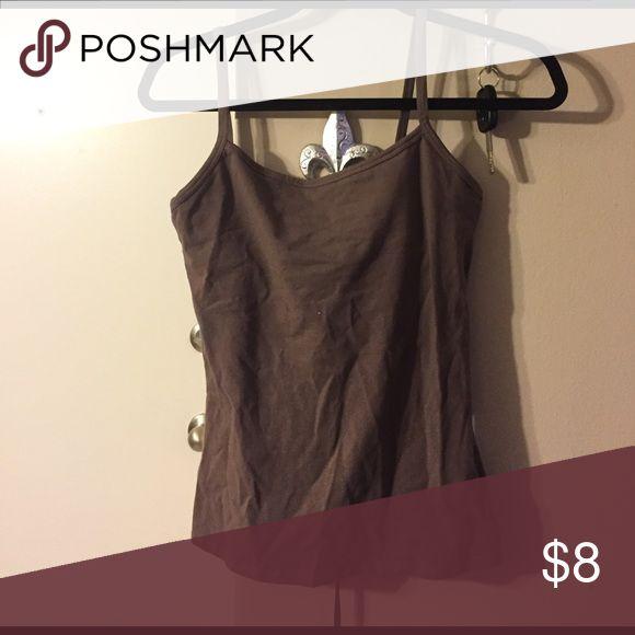 Brown camisole Brown camisole with shelf bra Bra Tops Tops Camisoles