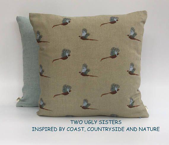 Pheasant Print Cushion Cover Decorative Sophie Allport Fabric