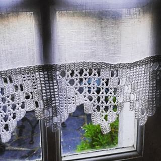 1000 images about rideau on pinterest crochet curtains. Black Bedroom Furniture Sets. Home Design Ideas