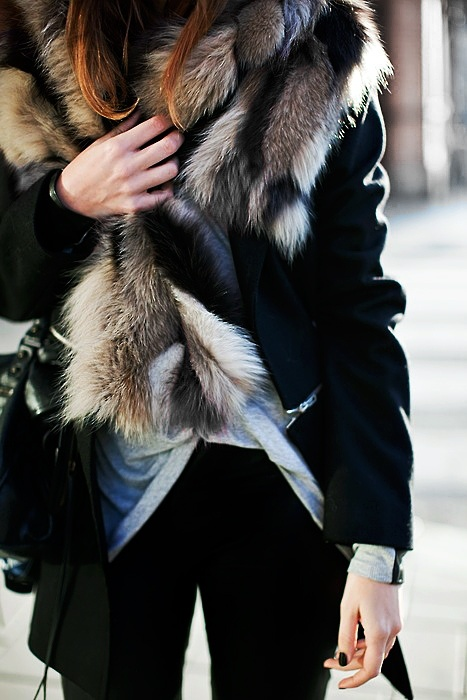 ~ fur ~Fashion Style, Clothing, Winter Style, Street Style, Fall, Winter Chic, Coats, Fur Vest