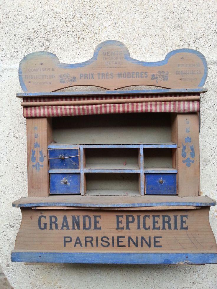 17 meilleures id es propos de marchande en bois sur pinterest marchande b - Epicerie ancienne jouet ...