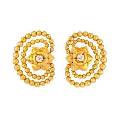 18K Gold & Diamond Earrings by Cartier, Paris by   Cartier