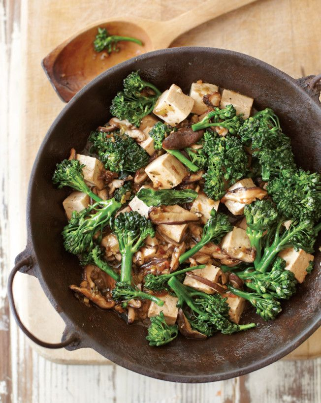 for Meatless Mondays: Stir-Fried Tofu with Mushrooms and Greens ...