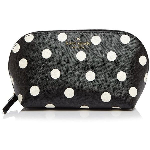 kate spade new york Cedar Street Dot Annabella Cosmetic Case found on Polyvore featuring beauty products, beauty accessories, bags & cases, kate spade makeup bag, makeup bag case, travel toiletry case, cosmetic purse and toiletry bag