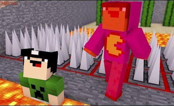 Minecraft: CORRIDA MORTAL DE NOOBS!