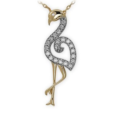 altın kolye, devekuşu kolye, kuş kolye, kalp kolye, 14 ayar, doğa, sembol kolye