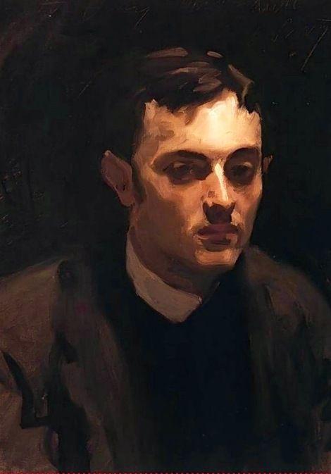 John Singer Sargent, Portrait of Albert de Belleroche on ArtStack #john-singer-sargent #art