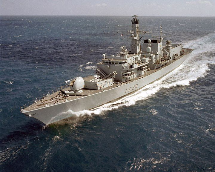 HMS Northumberland, a Type 23 frigate of the Royal Navy