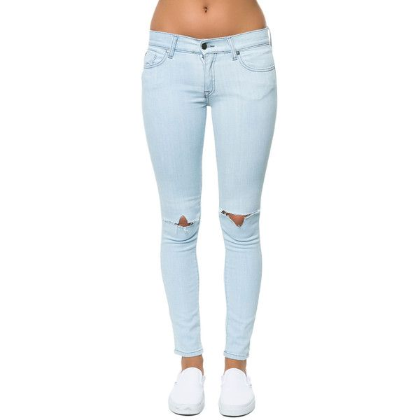 Pistola Denim The Audrey Skinny Denim in Whatever Light Blue ($59) ❤ liked on Polyvore