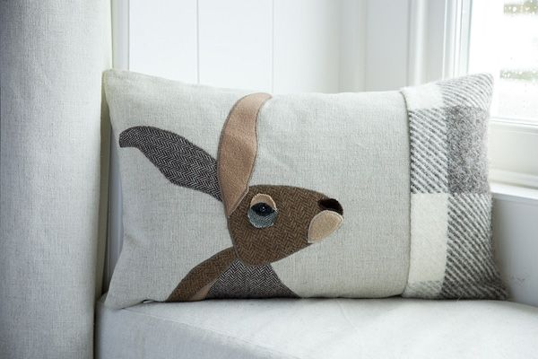 Hare cushion - Seaforth Designs