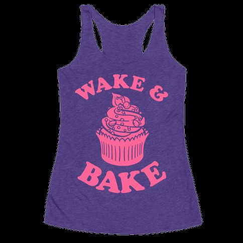 Wake and bake! The perfect gift for bakers everywhere, a weed joke and a baking joke all rolled up into one perfect baking shirt. You'll feel right at home in your kitchen with this funny cupcake shirt.