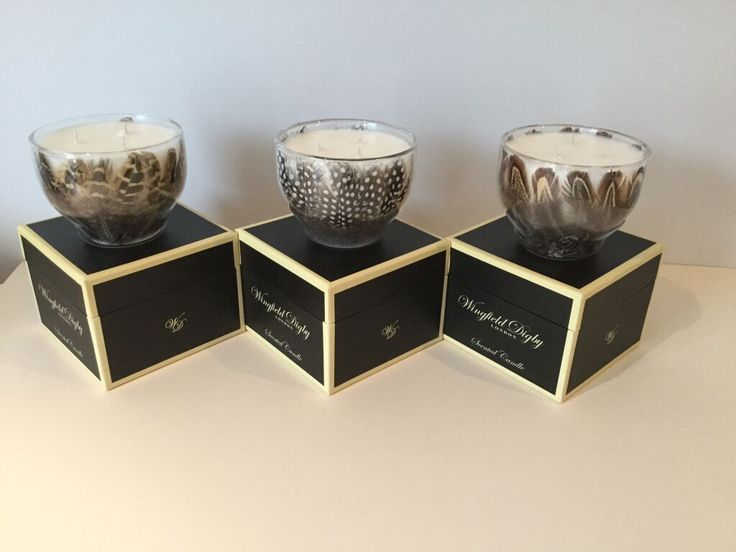 Hen pheasant, guinea fowl and cock pheasant feather scented candle range