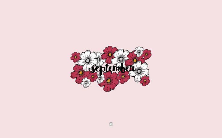floral wallpaper fro computer / fond d'écran fleuri  pour ordinateur !  #freebies #freebie #wallpaper #background #computerbackground #computerwallpaper #september #septembre #floral #flowers #flower #fleur #drawings #draw #illustration #design #dessin #autumn #fall #inspiration #mailyseven