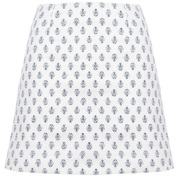 Related Avery Skirt (£74) ❤ liked on Polyvore featuring skirts, mini skirts, mini skirt, short mini skirts, summer mini skirts, white skirt and summer skirts