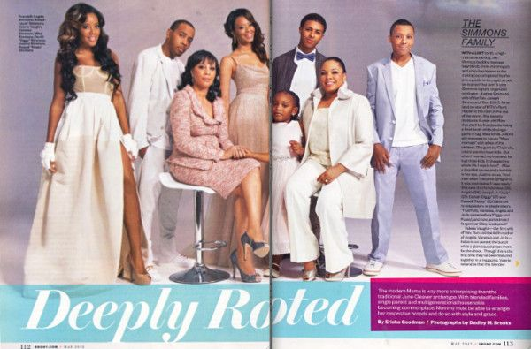 Valerie Vaughn Simmons | The Simmons Family (Including Ex-Wife Valerie Vaughn) Pose For Ebony ...