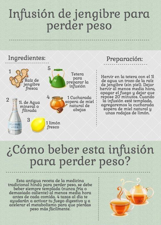 El té de jengibre es ideal para adelgazar. Pruébalo.  Dieta equilibrada | Té para adelgazar | Dietas fitness mujer | #dieta #adelgazarrápido #nutrición