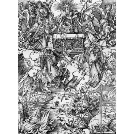 The Seven Trumpets Albrecht Durer (1471-1528 German) Canvas Art - Albrecht Durer (24 x 36)