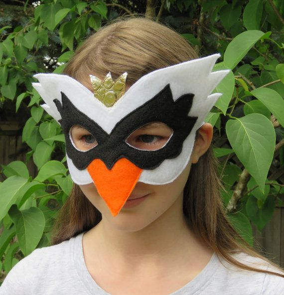 Black Swan Mask Swan Costume Accessory Felt Bird Mask