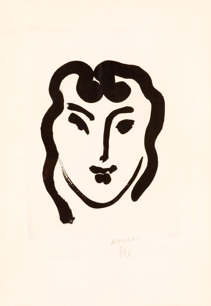 "Henri Matisse France 1869-1954  ""Patitcha souriante""."