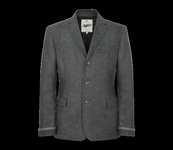 Pashley Collection Roadster blazer; reflective cuffs and collar subtlety hidden