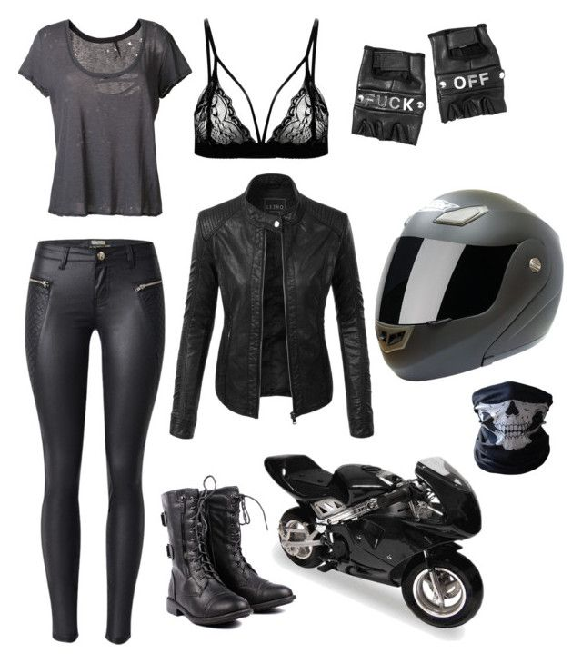 """Biker Girl"" by taylor-008 on Polyvore featuring Unravel, LE3NO and Funk Plus"