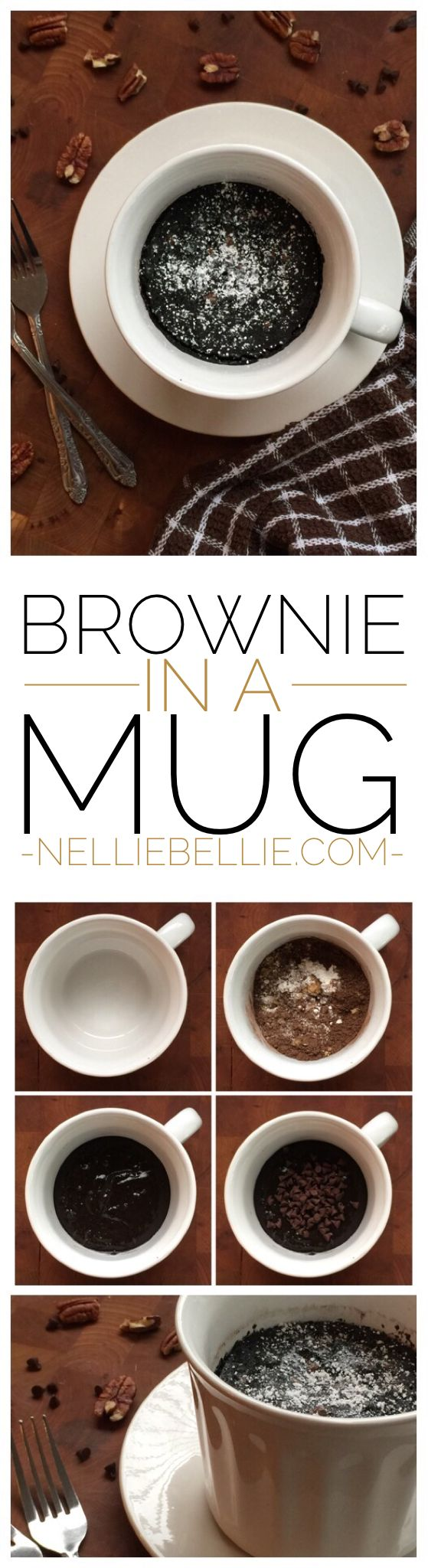 Microwave 3 minute brownies in a mug are easy and fast! Perfect treat for one person tonight!