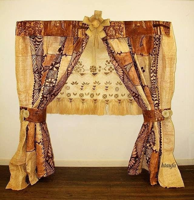 Tongan Wedding Arch made of Materials of the islands such as Tapa etc.