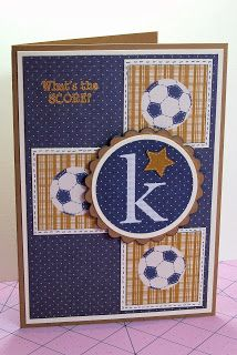 Chocolate and Crafts: Boy Birthday card for my grandson Kegan.