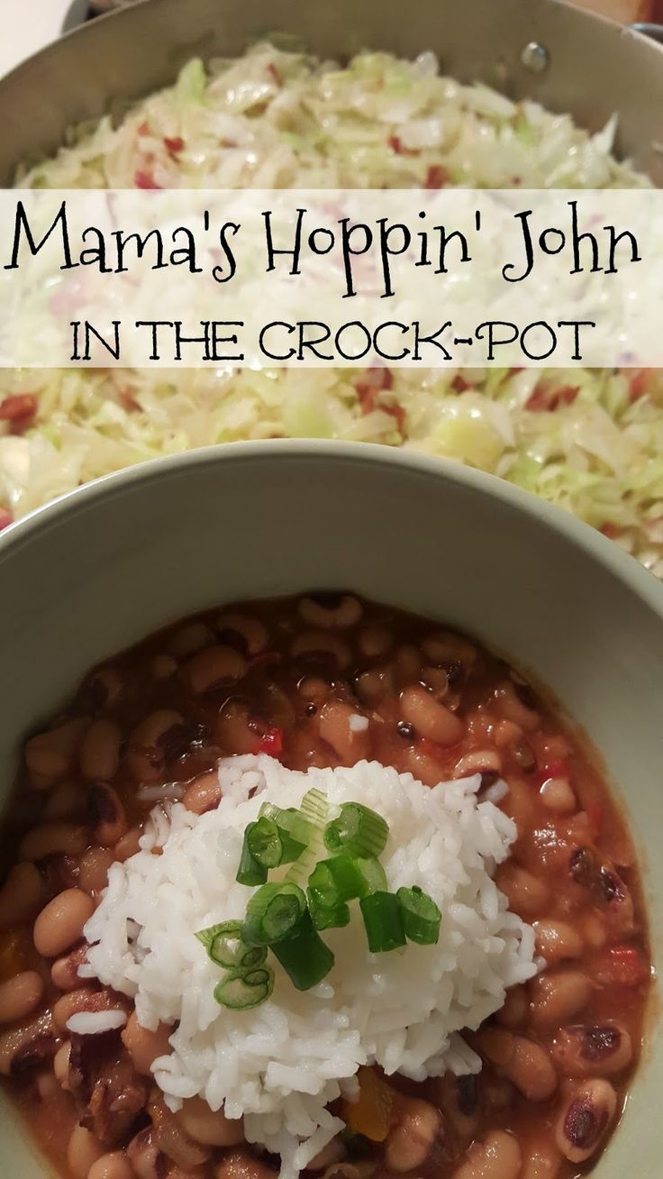 Mama's Hoppin' John in the Crock-Pot -our traditional New Year's meal.