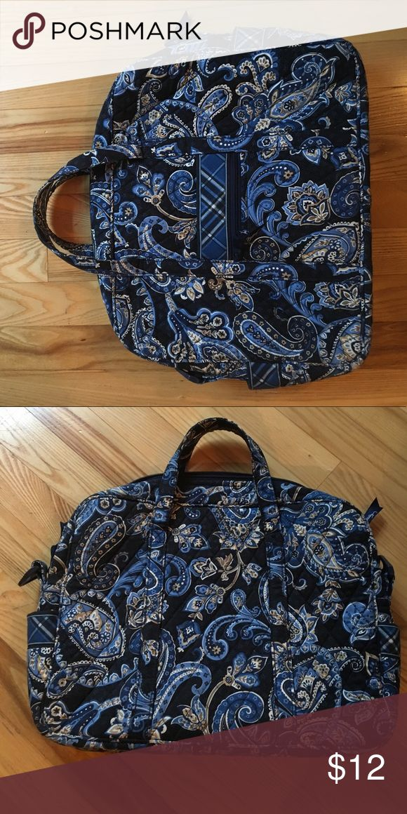 Blue Vera Bradley Laptop Bag Gently Used Vera Bradley Laptop Bag • Strap Not Included • Great for Back to School Vera Bradley Bags Laptop Bags