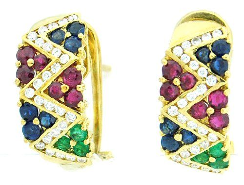 Natural Diamond Multi Gemstone Earrings 18K Yellow Gold [... https://www.amazon.com/dp/B00CKIDL0Q/ref=cm_sw_r_pi_dp_CySExbARZM9G0