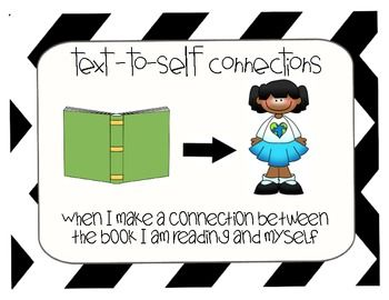 This is a free 3 poster set for Text Connections.  It contains a Text-to-Self Connection Sign, a Text-to-Text Connection Sign, and a Text-to-World Connection Sign.  They were created with images as well as the definition.  Enjoy!