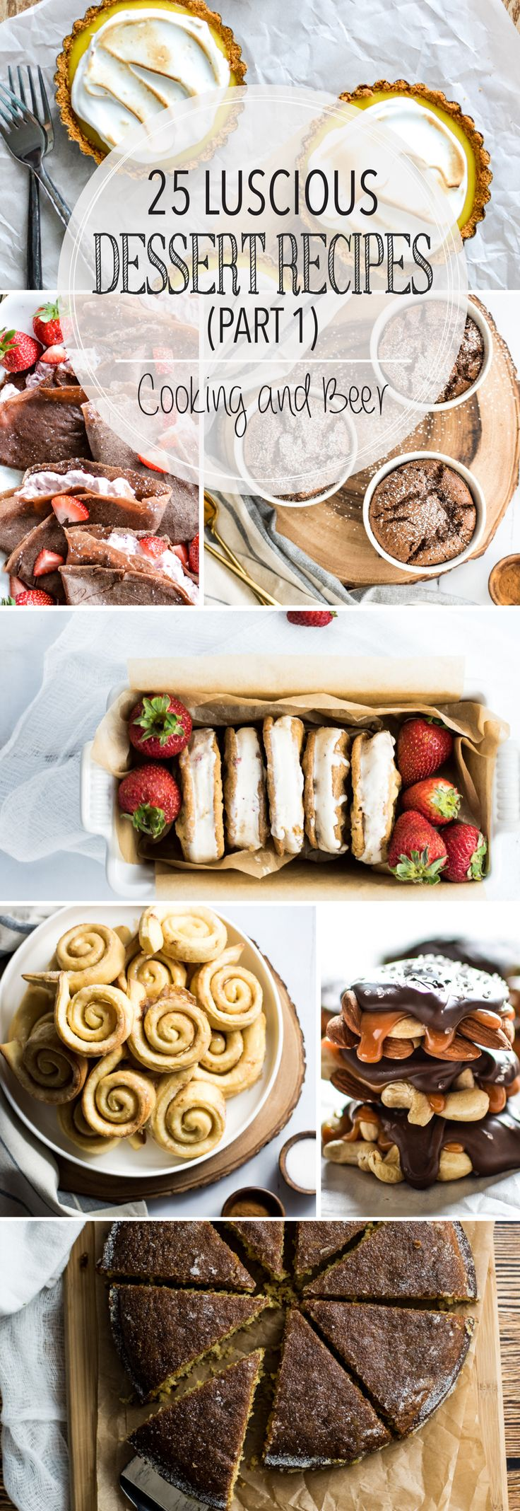 From pots de creme to coffee cake and from slab pies to homemade ice cream, here are the first 25 of 50 luscious dessert recipes on Cooking and Beer!