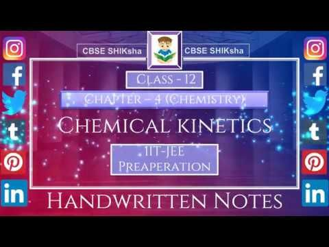 Chemistry:Class 12: Chapter-4 | Chemical Kinetics | IIT-JEE | CBSE Board...