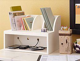 TUTORIAL: organizar correo y ocultar ladrón de cargadores. Charging Post and Mail Organizer - Lowe's Creative Ideas