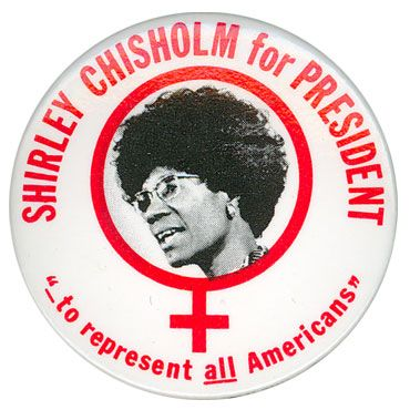 """I want history to remember me not just as the first black woman to be elected to Congress, not as the first black woman to have made a bid for the presidency of the United States, but as a black woman who lived in the 20th century and dared to be herself."" -- Shirley Chisholm (11/30/1924-1/1/2005)"