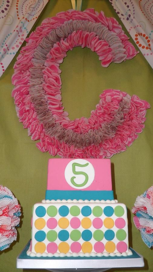 Initial with cupcake liners