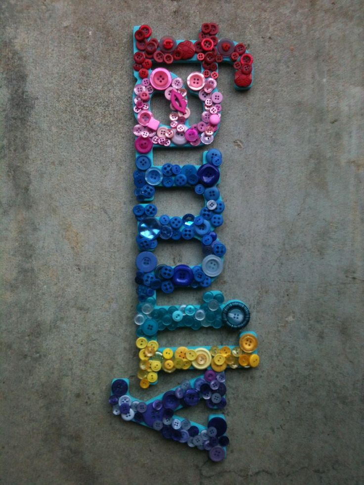 On a cardboard sign easy and fun diy for Craft buttons for sale