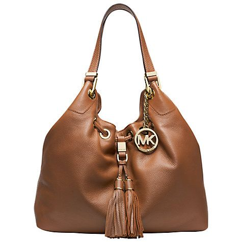 Buy MICHAEL Michael Kors Camden Large Drawstring Leather Shoulder Bag, Luggage Online at johnlewis.com