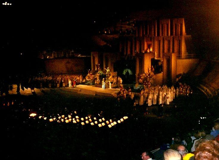 We see the opera Nabucco in Verona - Italy