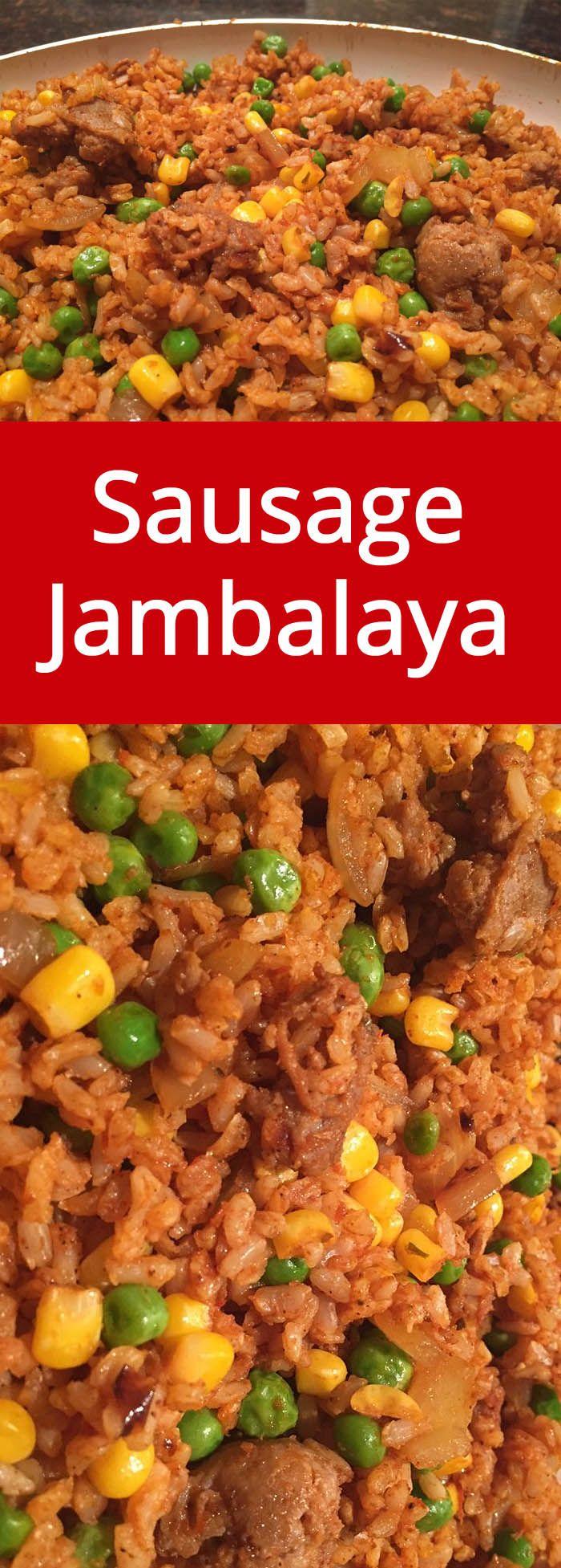 Sausage Jambalaya Recipe | MelanieCooks.com