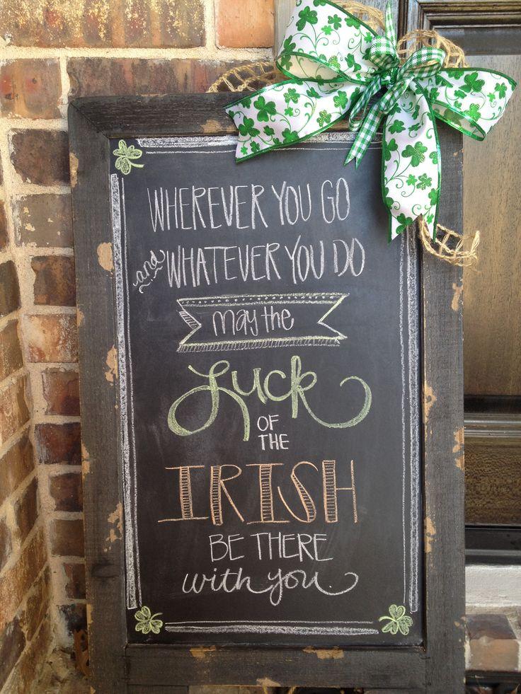 St. Patrick's Day chalkboard