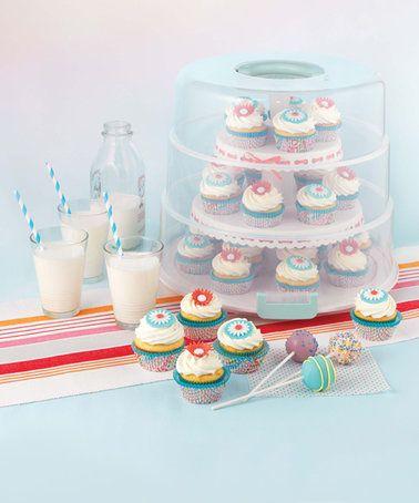 Look what I found on #zulily! Three-Tier Cupcake Carrier #zulilyfinds