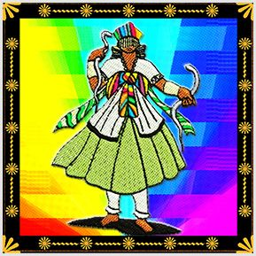 Oxumare - Quadrinhos confeccionados em Azulejo no tamanho 15x15 cm.Tem um ganchinho no verso para fixar na parede. Inspirados em deuses do Candomblé e Umbanda. Para entrar em contato conosco, acesse: www.babadocerto.com.br
