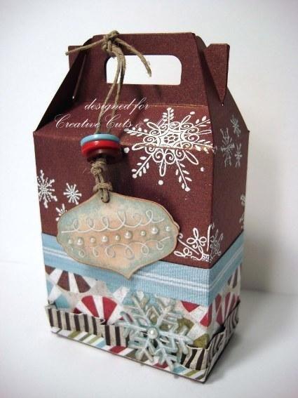 Christmas gift box created using our gable tall