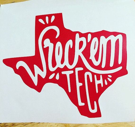 This listing is for a Wreck EM Tech decal! Select your color and size preference in the drop down menu! Wreck em